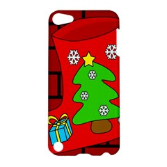 Christmas Sock Apple Ipod Touch 5 Hardshell Case by Valentinaart