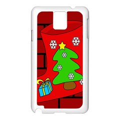 Christmas Sock Samsung Galaxy Note 3 N9005 Case (white) by Valentinaart