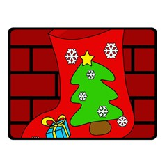 Christmas Sock Double Sided Fleece Blanket (small)  by Valentinaart