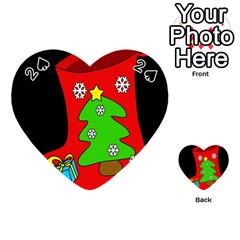 Christmas Sock Playing Cards 54 (heart)  by Valentinaart
