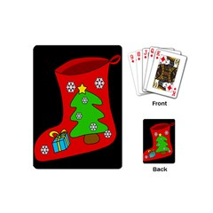 Christmas Sock Playing Cards (mini)  by Valentinaart