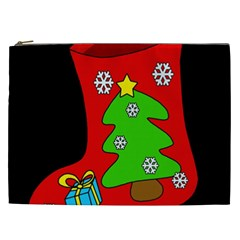 Christmas Sock Cosmetic Bag (xxl)  by Valentinaart