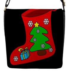Christmas Sock Flap Messenger Bag (s) by Valentinaart