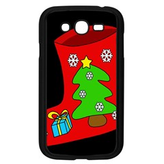 Christmas Sock Samsung Galaxy Grand Duos I9082 Case (black) by Valentinaart