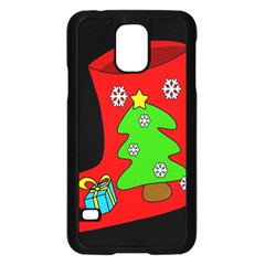 Christmas Sock Samsung Galaxy S5 Case (black) by Valentinaart