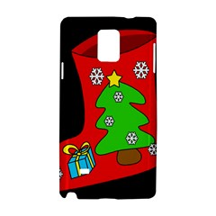 Christmas Sock Samsung Galaxy Note 4 Hardshell Case by Valentinaart