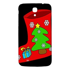 Christmas Sock Samsung Galaxy Mega I9200 Hardshell Back Case by Valentinaart
