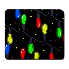 Christmas Light Large Mousepads by Valentinaart