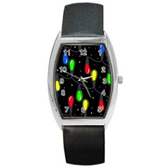 Christmas Light Barrel Style Metal Watch by Valentinaart