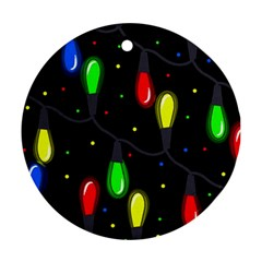 Christmas Light Round Ornament (two Sides)