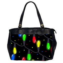 Christmas Light Office Handbags (2 Sides)  by Valentinaart