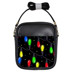 Christmas Light Girls Sling Bags by Valentinaart