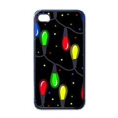 Christmas Light Apple Iphone 4 Case (black) by Valentinaart