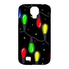 Christmas Light Samsung Galaxy S4 Classic Hardshell Case (pc+silicone) by Valentinaart