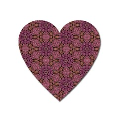 Fuchsia Abstract Shell Pattern Heart Magnet by TanyaDraws
