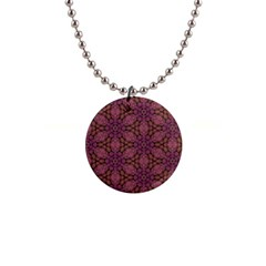 Fuchsia Abstract Shell Pattern Button Necklaces by TanyaDraws