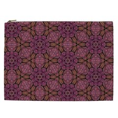 Fuchsia Abstract Shell Pattern Cosmetic Bag (xxl)  by TanyaDraws