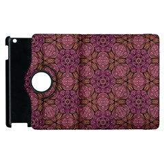 Fuchsia Abstract Shell Pattern Apple Ipad 2 Flip 360 Case by TanyaDraws
