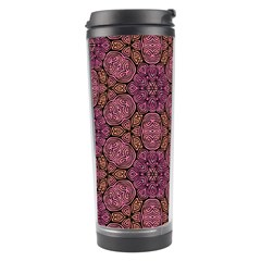 Fuchsia Abstract Shell Pattern Travel Tumbler
