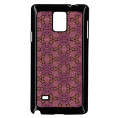 Fuchsia Abstract Shell Pattern Samsung Galaxy Note 4 Case (black) by TanyaDraws