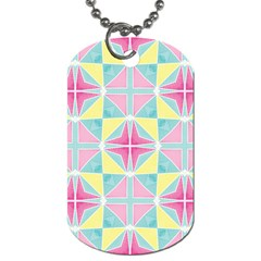 Pastel Block Tiles Pattern Dog Tag (one Side) by TanyaDraws
