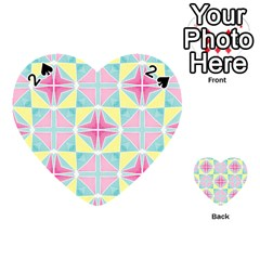Pastel Block Tiles Pattern Playing Cards 54 (heart)  by TanyaDraws