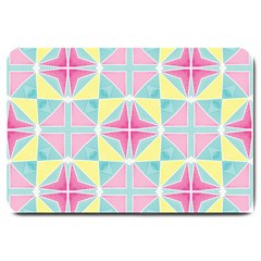 Pastel Block Tiles Pattern Large Doormat  by TanyaDraws