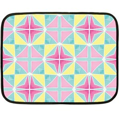 Pastel Block Tiles Pattern Double Sided Fleece Blanket (mini)  by TanyaDraws