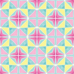 Pastel Block Tiles Pattern Magic Photo Cubes by TanyaDraws