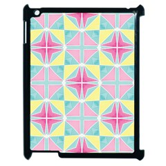 Pastel Block Tiles Pattern Apple Ipad 2 Case (black) by TanyaDraws