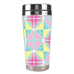 Pastel Block Tiles Pattern Stainless Steel Travel Tumblers by TanyaDraws