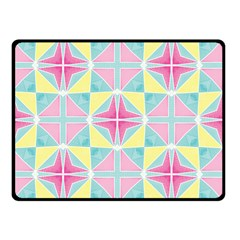 Pastel Block Tiles Pattern Double Sided Fleece Blanket (small)  by TanyaDraws
