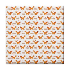 Fox And Laurel Pattern Tile Coasters