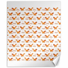 Fox And Laurel Pattern Canvas 16  X 20   by TanyaDraws