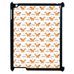 Fox And Laurel Pattern Apple Ipad 2 Case (black) by TanyaDraws