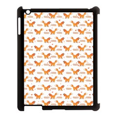Fox And Laurel Pattern Apple Ipad 3/4 Case (black) by TanyaDraws