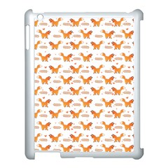 Fox And Laurel Pattern Apple Ipad 3/4 Case (white) by TanyaDraws