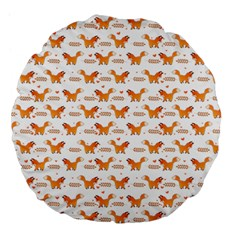 Fox And Laurel Pattern Large 18  Premium Flano Round Cushions by TanyaDraws