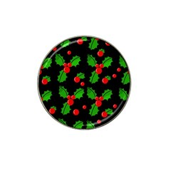 Christmas Berries Pattern  Hat Clip Ball Marker (10 Pack) by Valentinaart