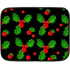 Christmas Berries Pattern  Fleece Blanket (mini) by Valentinaart