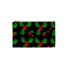 Christmas Berries Pattern  Cosmetic Bag (small)  by Valentinaart