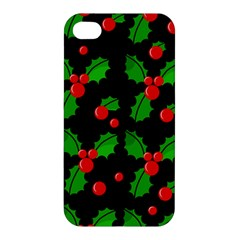 Christmas Berries Pattern  Apple Iphone 4/4s Hardshell Case by Valentinaart