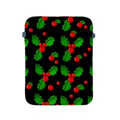 Christmas Berries Pattern  Apple Ipad 2/3/4 Protective Soft Cases by Valentinaart