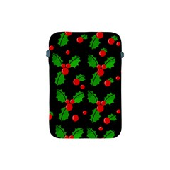 Christmas Berries Pattern  Apple Ipad Mini Protective Soft Cases by Valentinaart