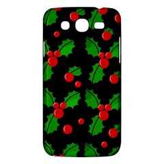 Christmas Berries Pattern  Samsung Galaxy Mega 5 8 I9152 Hardshell Case  by Valentinaart
