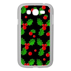 Christmas Berries Pattern  Samsung Galaxy Grand Duos I9082 Case (white) by Valentinaart