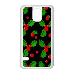 Christmas Berries Pattern  Samsung Galaxy S5 Case (white) by Valentinaart