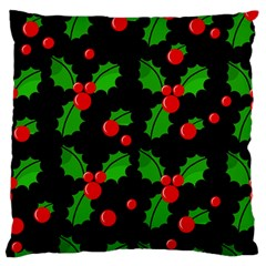 Christmas Berries Pattern  Standard Flano Cushion Case (one Side) by Valentinaart