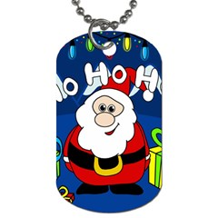 Santa Claus  Dog Tag (one Side) by Valentinaart