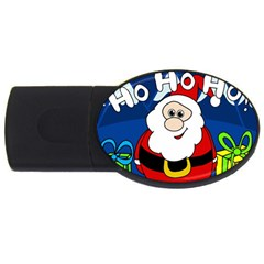 Santa Claus  Usb Flash Drive Oval (4 Gb)  by Valentinaart